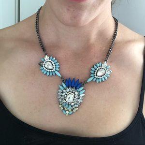Baublebar blue crystal adjustable necklace